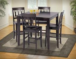 Modern Style Wood Seat Back Dining Set - 5pc Counter Height