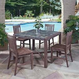 Home Styles Morocco 5 Piece Dining Set in Wire Brushed