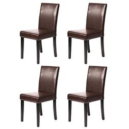 MrDirect Urban Style Solid Wood Leatherette Padded Parson Di