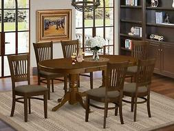 East West Furniture NAAV7-WHI-W 7-Piece Dining Table Set