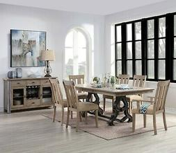 Acme Furniture Nathaniel 7 Piece Dining Room Set