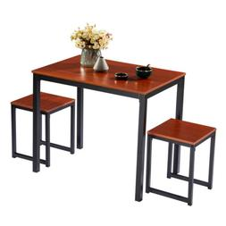 NEW 3PC Wood Dining Table and Chairs Set Breakfast Kitchen F