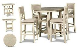 New Classic Furniture Gia Counter Dining Set, Bisque
