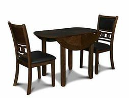 New Classic Furniture Gia Drop Leaf Dining Table with Two Ch