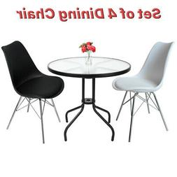 NEW Comfortable Metal Base Dining Chair with Back Set of 4 B