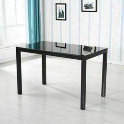 New Dining Table Set Modern style table Glass Metal Furnitur