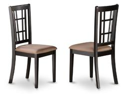 East West Furniture NIC-BLK-C Kitchen Chair Set with Microfi