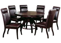 Hillsdale Nottingham 7-Piece Dining Set-Dark Walnut