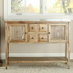 OAK WOOD FINISH DINING ROOM SIDEBOARD BUFFET CONSOLE TABLE C