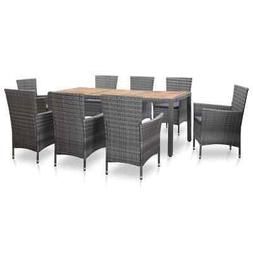 outdoor dining set with cushions 9 pieces