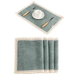 paleturquoise lace placemats