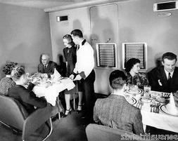 Pan Am Clipper photo Boeing B-314 Interior Dining Set up Fly