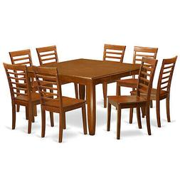 East West Furniture Parfait Square Dining Table Set with Woo