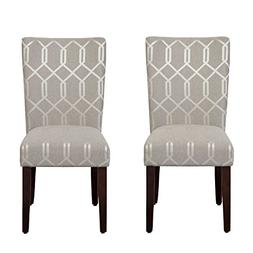 HomePop Parsons Classic Upholstered Accent Dining Chair, Set
