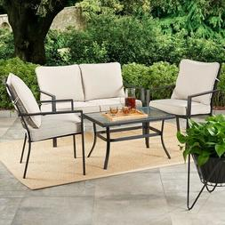 Patio Furniture Dining Set Table and Chair Sets 5 Piece 4 Ch