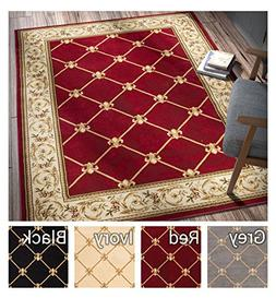 Patrician Trellis Red French European Formal Traditional 8x1