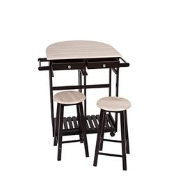 Peach Tree 3-Piece Table Dining Set Home Kitchen Furniture W