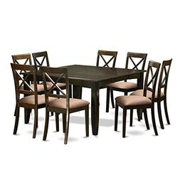 East West Furniture PFBO9-CAP-C 9Piece Dining Room Set for 8
