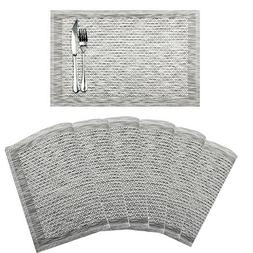 SHACOS Set of 6 Placemats for Dinning Table,PVC Woven Vinyl