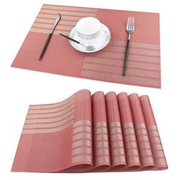 "Placemats,18""x12"" inch Heat Insulation Placemats,Washable Wo"