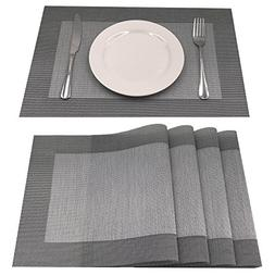 AMZMOO Placemats,Set of 4 Placemats,Dining Table Mat Anti-Sl