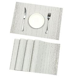Pauwer Placemats for Dining Table Heat resistant Stain Resis
