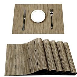 Pauwer Placemats Set of 8 Heat Insulation Stain Resistant Pl
