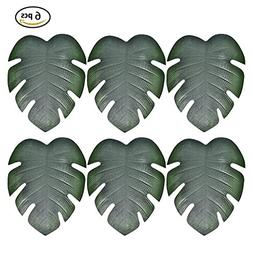 TiTa-Dong Placemats Sets Palm Leaves, Leaf Theme Non-slip In