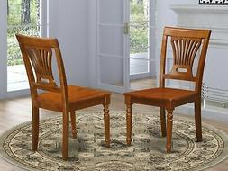 Set of 6 Plainville dinette kitchen & dining chairs w/ wood