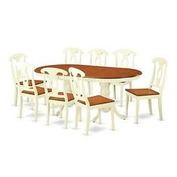 East West Furniture PLKE9-WHI-W 7 Piece Dining Table with 6