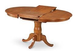 East West Furniture Pot-SBR-TP Oval Dining Table with 18-Inc