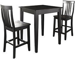 Crosley Furniture 3-Piece Pub Set with Tapered Leg Table and