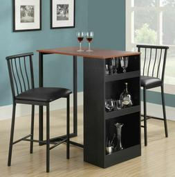 Pub Set Counter Height Kitchen Bar Table Wine Storage Dining