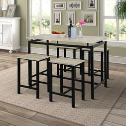 5 piece pub table dining set counter