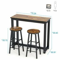 Pub Table Set 3 Piece Bar Stools Dining Kitchen Furniture Co