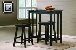 Pub Table Set 3 Pieces Bar Stools Dining Kitchen Furniture C