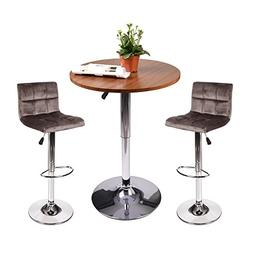 Elecwish Pub Table Set - Adjustable Bar tabla and Two Bar St