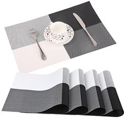 Famibay PVC Place Mats - Heat Insulation PVC Placemats Stain