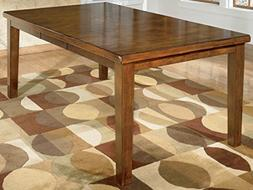 Ralene Medium Brown RECT DRM Butterfly EXT Table