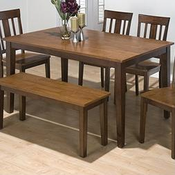 Jofran Rectangle Casual Dining Table in Kura Espresso and Ca