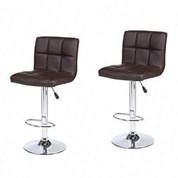 Mecor New Reinforced Design Leather Bar Stools Adjustable Sw