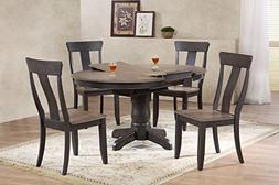 "Iconic Furniture 5 Piece Round Panel Back Dining Set, 42"" x"