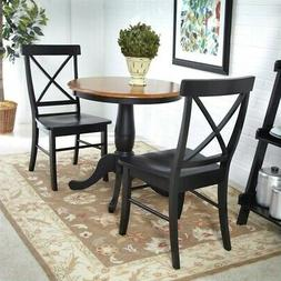 International Concepts 3-Piece 30-Inch Round Table with 2 Ch