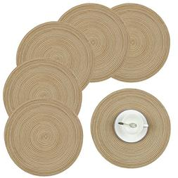 Homcomoda Round Table Placemats, Placemats for Kitchen Table