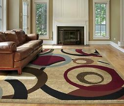 royal collection beige contemporary abstract circle design
