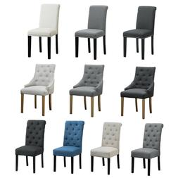Set of 2/4/6 Pcs Fabric Accent Dining Chair Armchairs Button