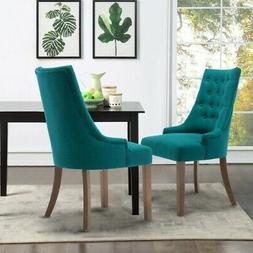 Set Of 2 Armless Dining Chairs Elegant Upholstered Accent Ch