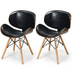 Set of 2 Bentwood Dining Chair Mid-Century Accent Chair Curv