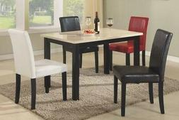 Set of 2 Elegant Design Modern Leather Parsons Dining Chairs