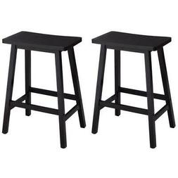 Set of 2 Modern Style Bar Stool 24 Inch Height Dining Chair